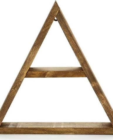 Nástěnná dřevěná police Geometric