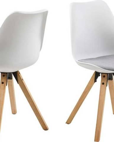 Sada 2 šedo-bílých jídelních židlí Actona Dima