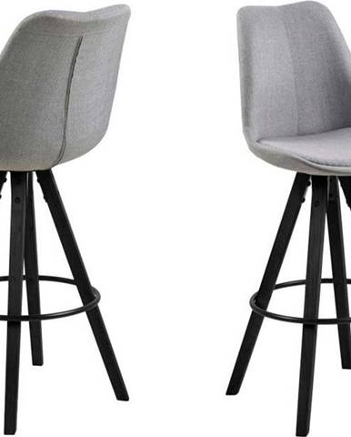 Sada 2 šedých barových židlí Actona Damia