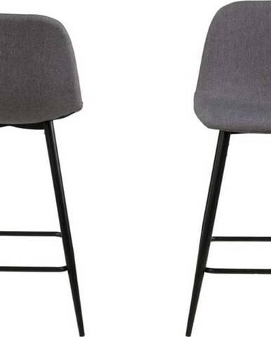 Sada 2 světle šedých židlí Actona Wilma