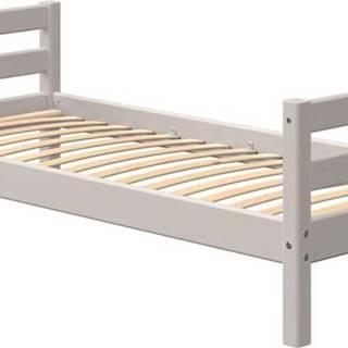 Šedá dětská postel z borovicového dřeva Flexa Classic
