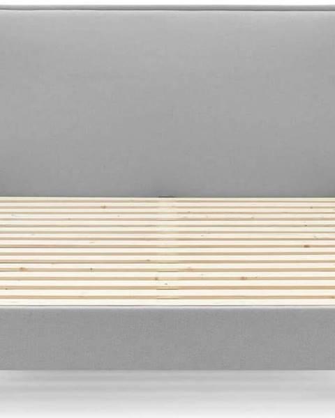 Bobochic Paris Šedá dvoulůžková postel Bobochic Paris Sary Light, 160 x 200 cm
