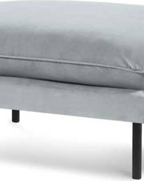 Cosmopolitan design Světle šedá sametová podnožka Cosmopolitan Design Vienna, 100 x 80 cm