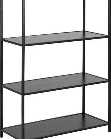 Černá knihovna Actona Seaford, 77 x 114 cm
