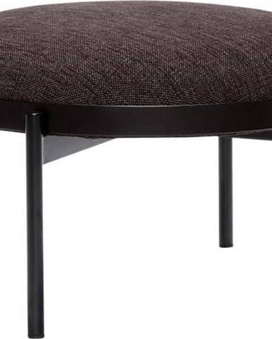 Černá stolička Hübsch Futuro, ø 65 cm