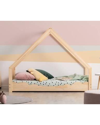 Domečková dětská postel z borovicového dřeva Adeko Loca Dork,100x200cm