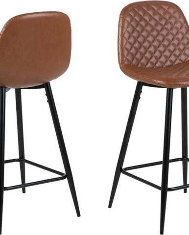 Hnědá barová židle Actona Wilma