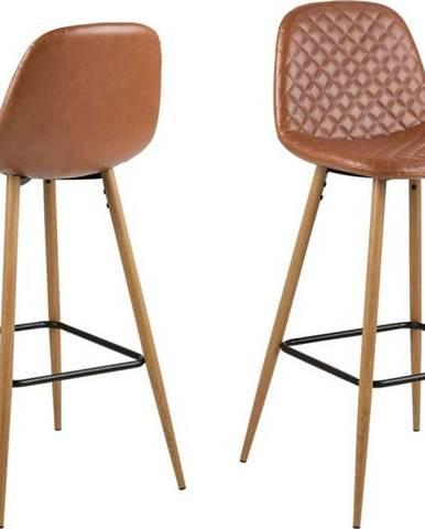 Koňakově hnědá barová židle Actona Wilma