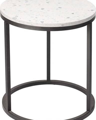 Odkládací stolek s kamennou deskou RGE Bianco, ø 50 cm