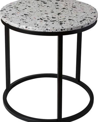 Odkládací stolek s kamennou deskou RGE Cosmos, ø 50 cm