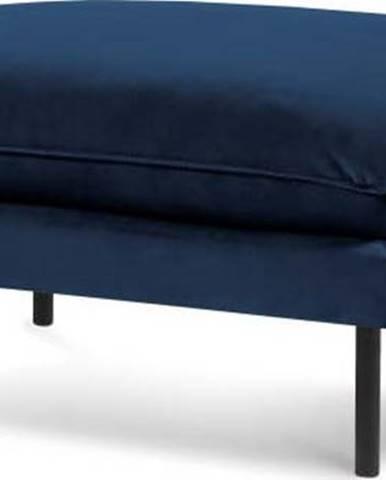 Modrá sametová podnožka Cosmopolitan Design Vienna, 100 x 80 cm