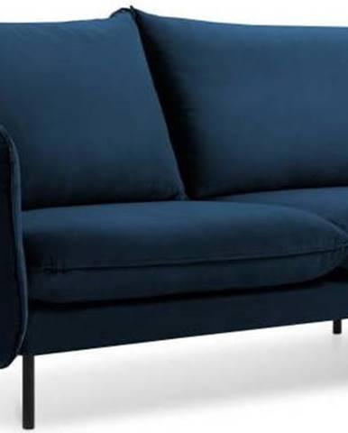 Modrá sametová pohovka Cosmopolitan Design Vienna, 160 cm