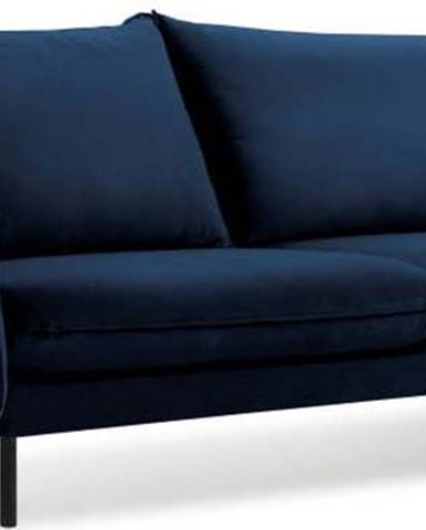 Modrá sametová pohovka Cosmopolitan Design Vienna, 230 cm