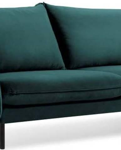 Petrolejově zelená sametová pohovka Cosmopolitan Design Vienna, 230 cm