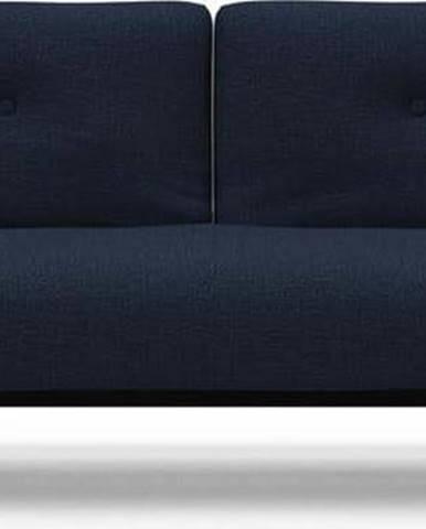 Tmavě modrá rozkládací pohovka Innovation Ample Sofa Bed Mixed Dance Blue, 115x210cm