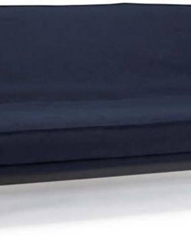 Tmavě modrá rozkládací pohovka se snímatelným potahem Innovation Mimer Mixed Dance Blue