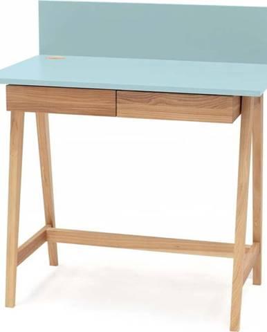 Tyrkysový psací stůl s podnožím z jasanového dřeva Ragaba Luka,délka85cm