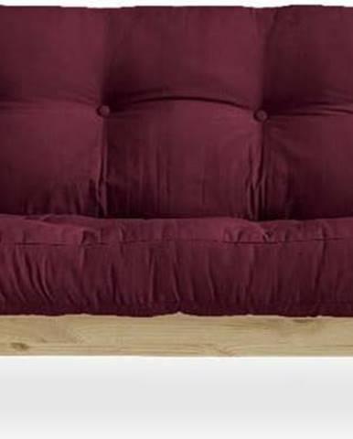 Variabilní pohovka Karup Design Indie Natural Clear/Bordeaux