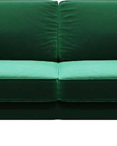 Zelená sametová pohovka MESONICA Kobo, 207 cm
