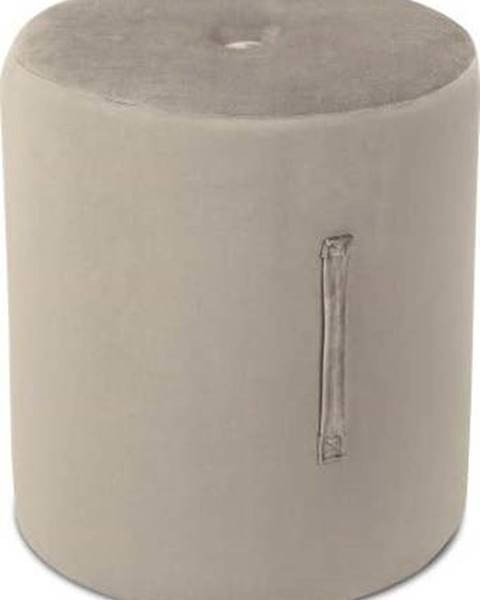 Mazzini Sofas Béžový puf Mazzini Sofas Fiore, ⌀ 40 cm