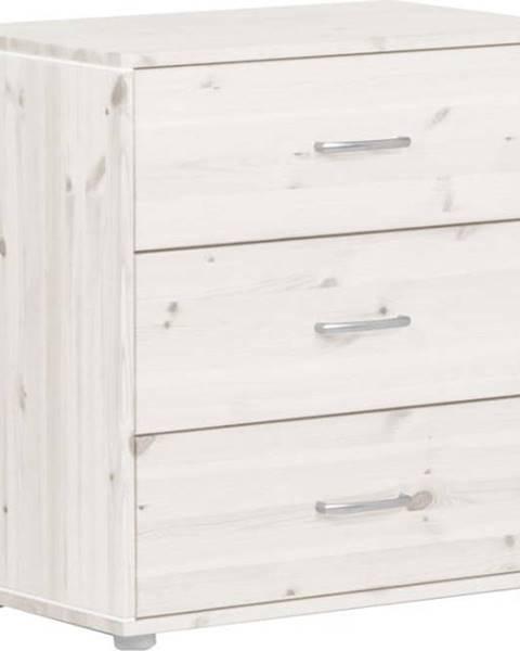 Flexa Bílá dětská komoda s 3 šuplíky z borovicového dřeva Flexa Classic