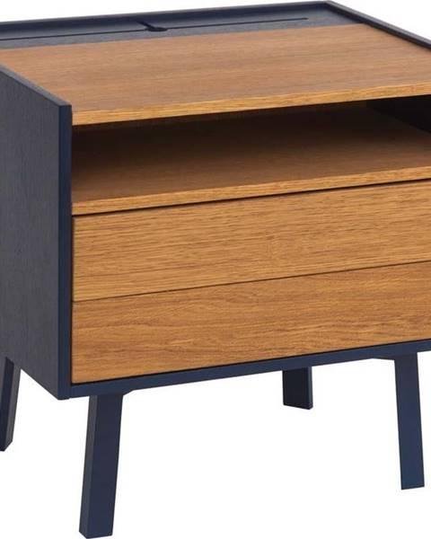 Ragaba Noční stolek s detaily v tmavě modré barvě Ragaba Diamond