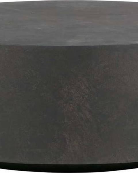 WOOOD Tmavě hnědý konferenční stolek z vláknitého jílu WOOOD Dean, Ø80cm