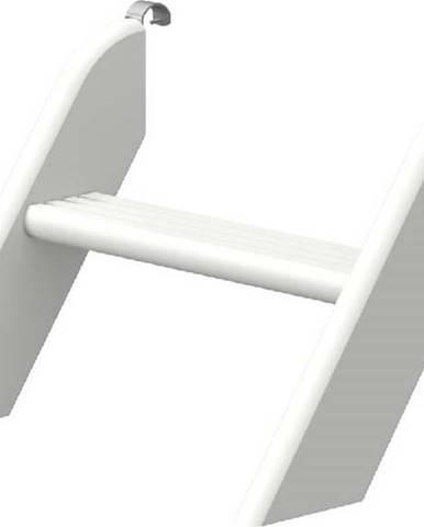 Bílý krátký žebřík z borovicového dřeva k dětské posteli Flexa White