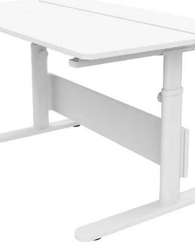 Bílý psací stůl s nastavitelnou výškou Flexa Evo Split