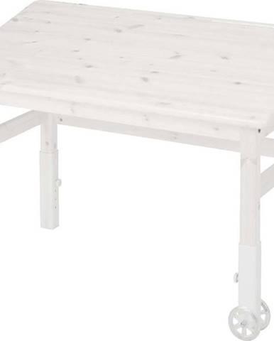 Bílý psací stůl z borovicového dřevas náklopnou deskou Flexa Elegant