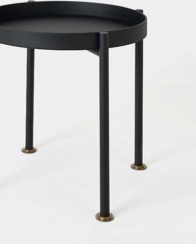 Černý odkládací stolek Custom Form Hanna, ⌀40cm