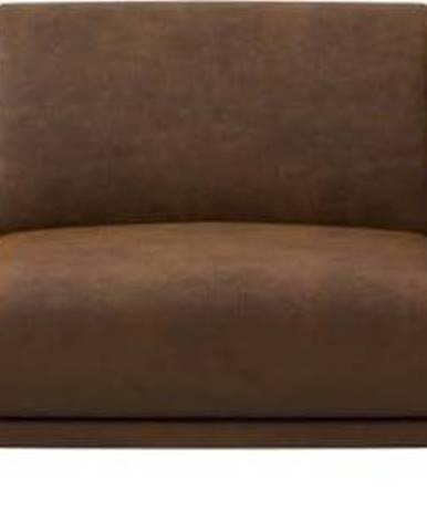 Hnědá pohovka z imitace kůže MESONICA Puzo, 240 cm