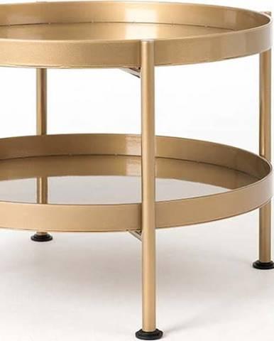 Konferenční stolek ve zlaté barvě Custom Form Hanna, ⌀60cm