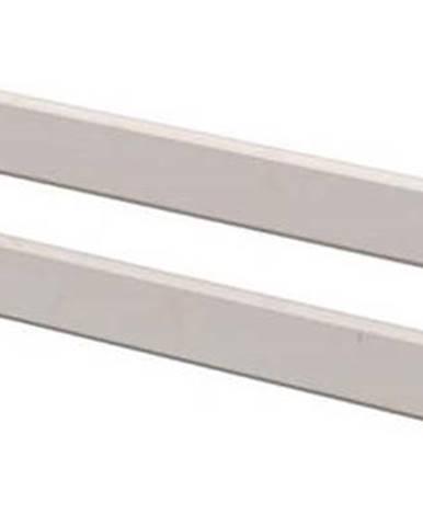 Šedá bezpečnostní zábrana z borovicového dřeva k dětské posteli Flexa Classic, délka197 cm