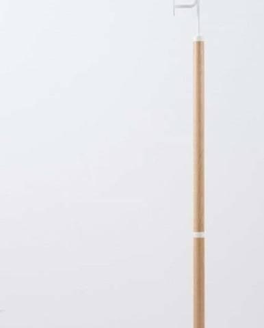 Stojací věšák z masivního dubového dřeva s bílým detailem Gazzda Hook