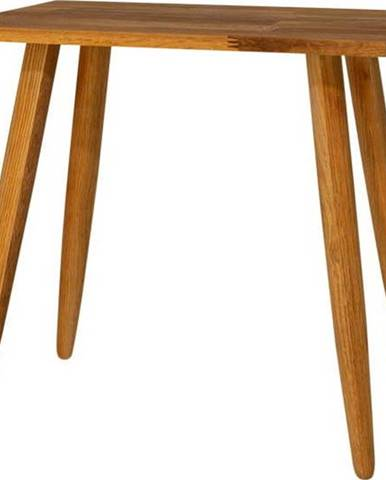 Stolička z masivního dubového dřeva Canett Uno
