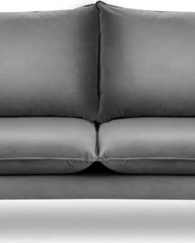 Světle šedá sametová pohovka Mazzini Sofas Acacia, délka 205 cm