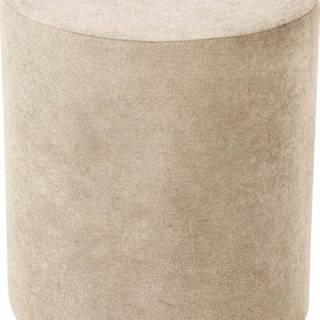 Béžový puf Kooko Home Motion, ø40cm