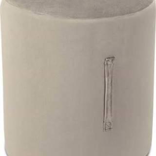 Béžový puf Mazzini Sofas Fiore, ⌀ 40 cm