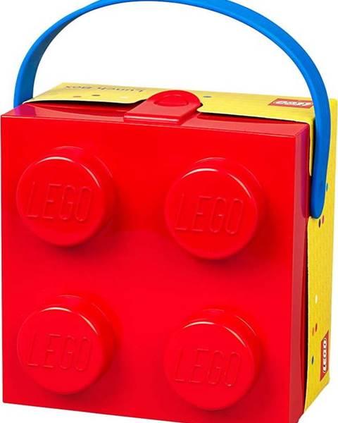 LEGO Červený úložný box s rukojetí LEGO®