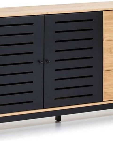 Marckeric Komoda s dřevěnou konstrukcí a černými detaily Marckeric Alessia,šířka141cm