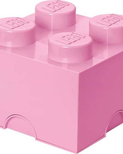 LEGO Světle růžový úložný box čtverec LEGO®