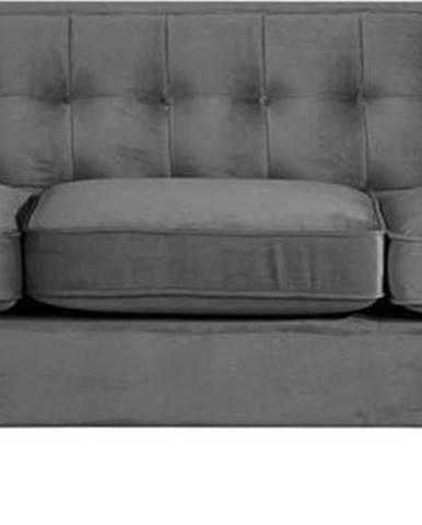 Antracitově šedá pohovka Max Winzer Jeronimo, 215 cm