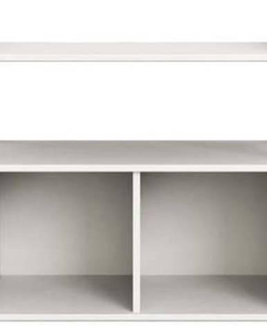 Bílá dětská knihovna Flexa Shelfie, výška 74 cm