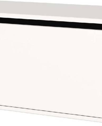 Bílá dětská úložná lavice Flexa Shelfie