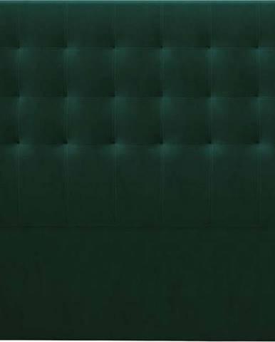 Lahvově zelené čelo postele se sametovým potahem Windsor & Co Sofas Athena, 160x120cm