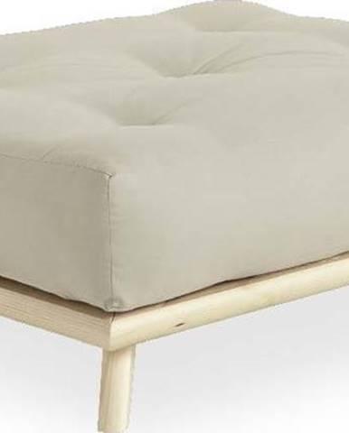 Podnožka Karup Design Senza Natural Clear/Beige