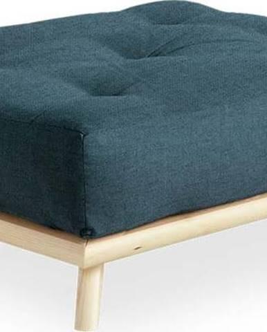 Podnožka Karup Design Senza Natural Clear/Dark Blue