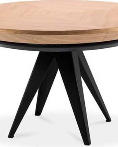 Rozkládací stůl s černými kovovými nohami Windsor & Co Sofas Magnus, ø120cm
