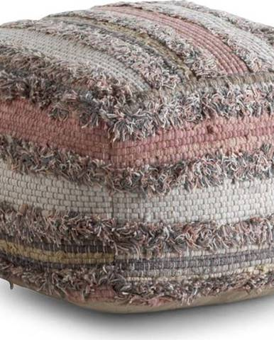 Šedo-růžový vzorovaný puf Geese Ceylon